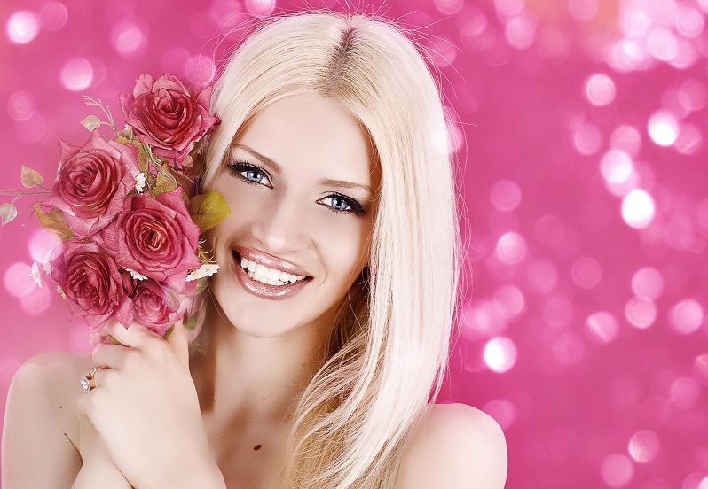Roses Blonde girl Face 497730 сссс